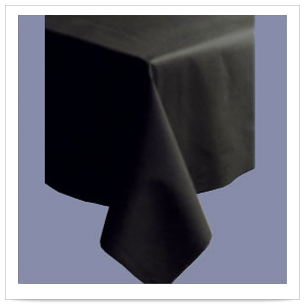 50 x 108 Linen Like Black Color In Depth Tablecover/Case of 20