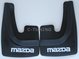 Universal car mud flaps with Mazda logos rear or front 3D custom snow gu... - £22.80 GBP