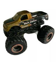 Black Stallion Monster Jam Truck Hot Wheels Flames 2012 Michael Vater - $9.89