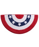 Americana Bunting Slice Rug Cotton Bath Red White Blue Celebrate USA Pat... - $26.70