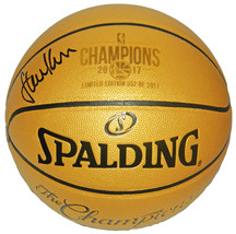 Steve Kerr Signed Spalding Golden State Warriors 2017 Champions Gold Limited Edi - $235.00