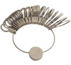 Jeweler's Nickel-Plated Flat Ring Sizer Finger Gauge - 29 sizes, #1-15 - $8.97