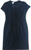 Adrianna Papell Black Silk Dress 12 Classy Business Career Lined Shoulde... - $25.73