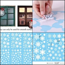 Christmas Snowflake Window Clings Decal Wall Stickers for Home Room Deco... - $14.55