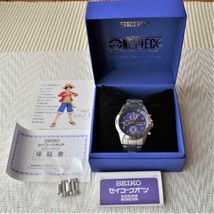 Seiko One Piece Wrist Watch Anime 20th Anniversary Blue Face Limited 5000 - $475.29