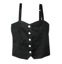 Lauren Ralph Lauren Black Cotton Button Front Sun Top size 12 - $24.00