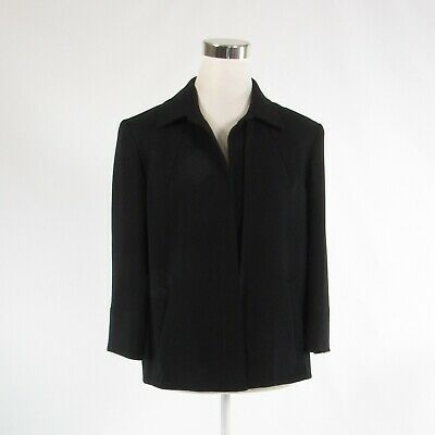 Primary image for Black LOUBEN open front 3/4 sleeve blazer jacket 6