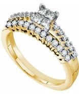 14k Y Gold .58ct Diamond Engagement Ring Invisible Set Princess Cut Diam... - $519.75