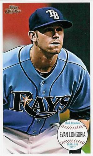Primary image for 2011 Topps Lineage Giant Box Loaders #TG13 Evan Longoria Rays NM-MT