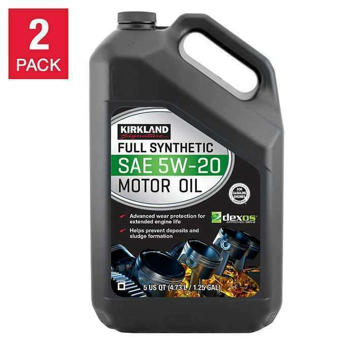 Primary image for NEW Kirkland Signature 5W-20 Full Synthetic Motor Oil 5-quart, 2-pack