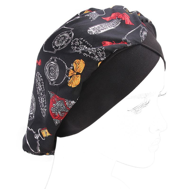 Primary image for Free delivery Women Faux Silk Turban Cap Leopard Floral Geometric Muslim Hijab C