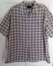 Men's American Eagle Outfitters Short Sleeve Button Front Shirt Plaid Si... - $193,11 MXN