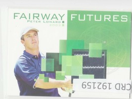 2003 Upper Deck Fairway Futures Golf Card #PL Peter Lonard 192159 - $1.86