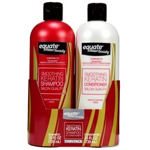Equate Beauty Keratin Smooth Conditioner and Shampoo, 25 fl oz, Twin Pack - $10.99