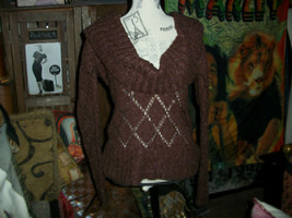 ANTHROPOLOGIE II SISTERS  Soulful Chocolate Sweater Size S - $17.82