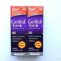 NIB 2 Genteal Tears Lubricant Eye Gel Severe Dry Eye 0.34 fl oz, Exp. 4/... - $48.37