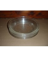 """Set of 5 vintage Pyrex Clear #208 Round Pie Pans Baking Dishes 8"""" - $46.74"""