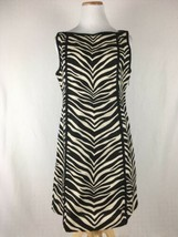 J.Crew Women's 100% Linen Zebra Print Animal Stripes Sleeveless Dress Si... - $29.84