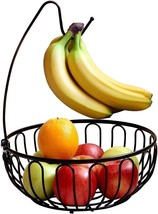 DecoBros Wire Fruit Tree Bowl with Banana Hanger Basket Decorative Dinin... - $23.82