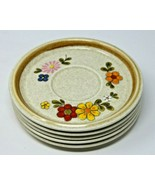 "Mikasa Stone Manor FLORIBUNDA F5813 Coaster Plates 6.5"" Diameter Set Of 5 - $45.59"