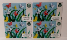 Starbucks Spring Butterflies Card Lot 4 released 2012 No Value Collectible Blue - $6.92