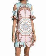 $315 TED BAKER NORAHE VERSAILLES COLD SHOULDER FRILL DRESS TED'S SIZE 1 ... - $108.89