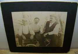 c1910 ANTIQUE YACHT FISHING BOAT CAPTAIN CABINET OCCUPATIONAL PHOTO - $19.79