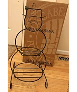 Longaberger Wrought Iron Small Snowman with Top 2 level tiered NEW  - $74.99