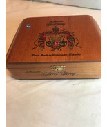 Empty Wooden Cigar Box Gift Jewelry Stash Box - A. Fuente Short Story Fr... - $12.64