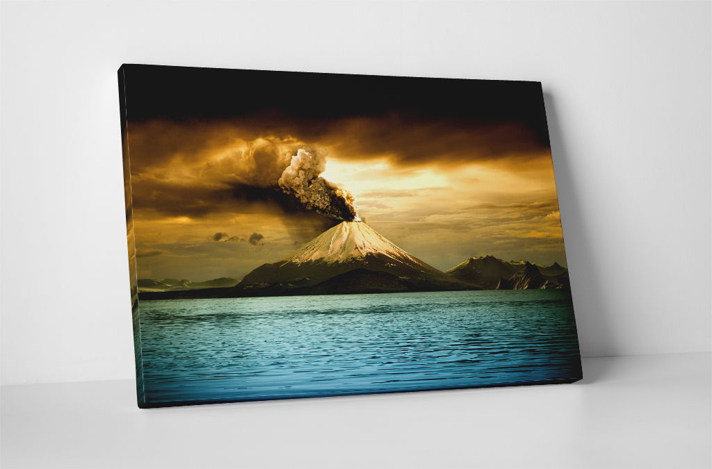 """Sunset Volcano Gallery Wrapped Canvas Wall Art 30""""x20"""" or 20""""x16"""" - $44.50 - $52.97"""