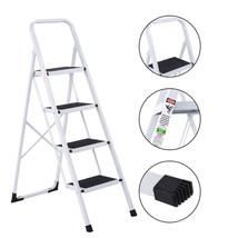 Folding Metal Step Stool Non-slip 4 Ladder Folding Steel Work Platform 3... - $73.00