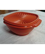 "Tupperware 7"" Servalier Bowl Orange with Matching Seal - $19.95"