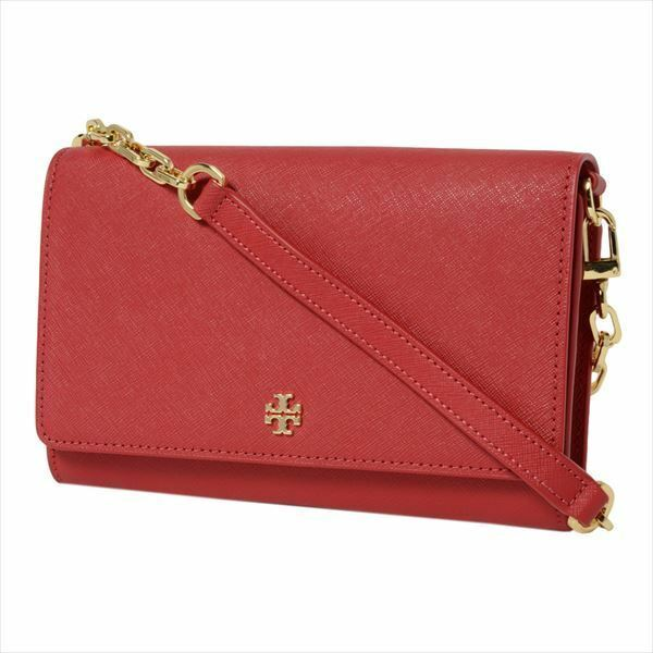 Primary image for Tory Burch Emerson Chain Wallet Cross Body Bag in Kir Royale