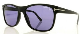 Tom Ford GIULIO Matte Black / Blue Sunglasses TF698 02V - $195.02