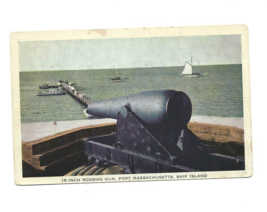 Vintage Color Post Card - 15-INCH RODMAN GUN, FORT MASSACHUSETTS Gulfpor... - $3.95