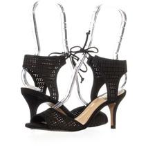 Vince Camuto Kanara Tie Up Dress Sandals 695, Black, 6 US / 36 EU - $33.59