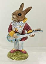 Royal Doulton Bunnykins Figurine Mr Bunnybeat Strumming Guitar  No Box T53 - $84.15