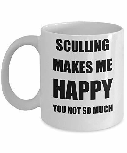 Sculling Mug Lover Fan Funny Gift Idea Hobby Novelty Gag Coffee Tea Cup Makes Me