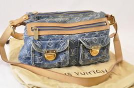 LOUIS VUITTON Monogram Denim Buggy PM Shoulder Bag M95049 LV Auth 7814 - $498.00