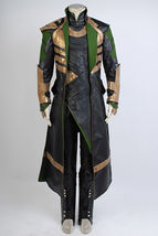 Thor 2 II The Dark World Loki Cosplay Costume Battle Uniform Outfit Suit Attire - $199.99+