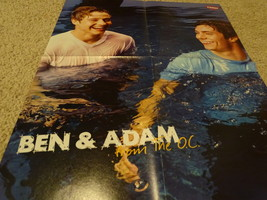 Ben Mckenzie Adam Brody Hilary Duff teen magazine poster clipping wet pool - $4.00