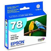 Epson T078520 78 Inkjet Print Cartridge - Light Cyan - 1 Pack - $21.67