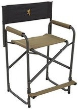 NEW - Browning Camping Directors Chair Extra Tall - Easy to sit and stan... - $98.99