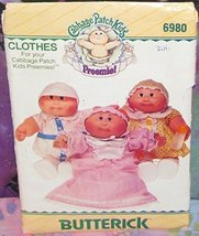 Cabbage Patch Kids Preemies Clothing, Butterick No 6980 - $10.88