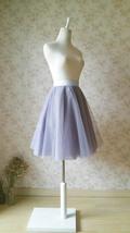 Gray Wedding Knee Length A-line Tulle Skirt Ballerina Skirt Bridesmaid Skirt NWT image 3