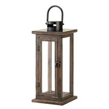 Gallery of Light Candle Lanterns Decorative, Rustic Outdoor Hanging Wood... - $39.92