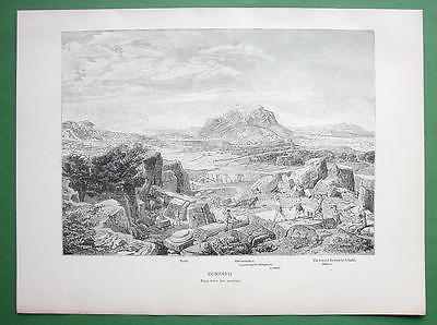 Primary image for GREECE View of Corinth - 1882 Antique Print