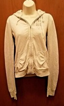 Women's gray embroidered Abercrombie & Fitch floral hoodie sweatshirt si... - $13.98