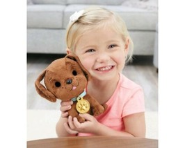 Little Tikes Just Born Puppy CHOCOLATE LAB  Interactive Soft Toy Kids Birthday - $25.58