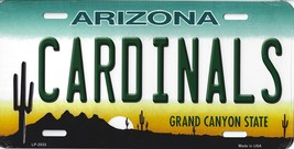 Cardinals Arizona State State Background Metal License Plate Tag (Cardin... - $11.95